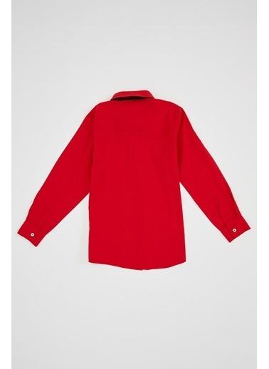 DeFacto Erkek Çocuk Papyonlu Uzun Kollu Gömlek Kırmızı